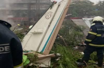 Chartered plane crashes in Mumbai's Ghatkopar, pedestrian among five killed