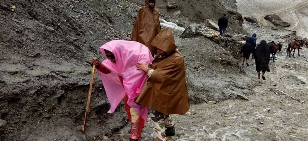 Amarnath Yatra resumes as weather conditions in Valley improves (ANI Photo)