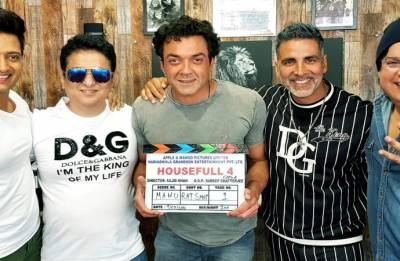 Boys are back! Akshay Kumar, Riteish Deshmukh, Bobby Deol start shooting for Housefull 4