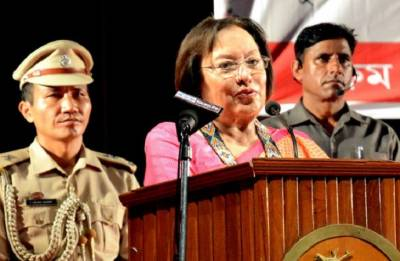 Manipur Governor Najma Heptulla stresses on fencing of Manipur-Myanmar border