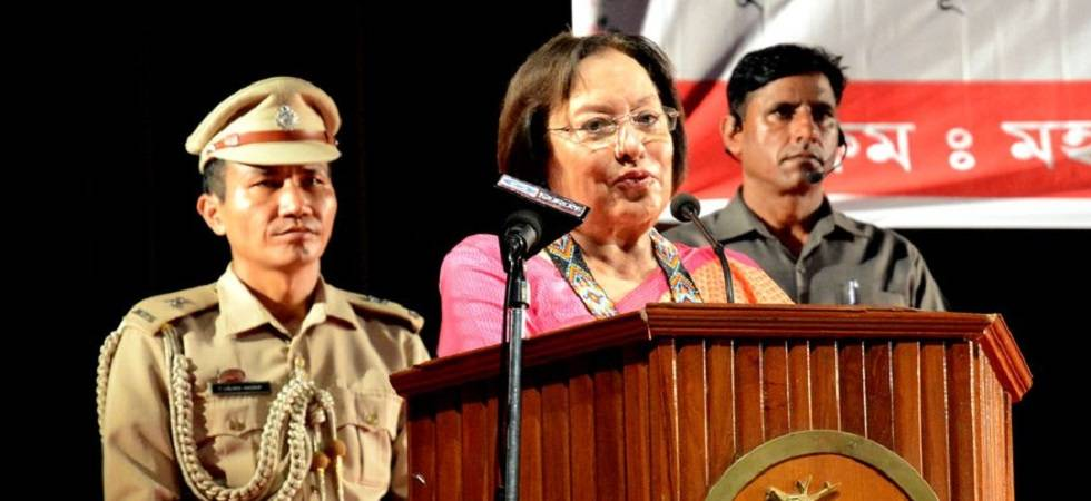 Manipur Governor Najma Heptulla stresses on fencing of Manipur-Myanmar border (Photo: Twitter)