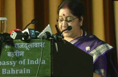 Sushma Swaraj arrives in Bahrain for joint commission meet