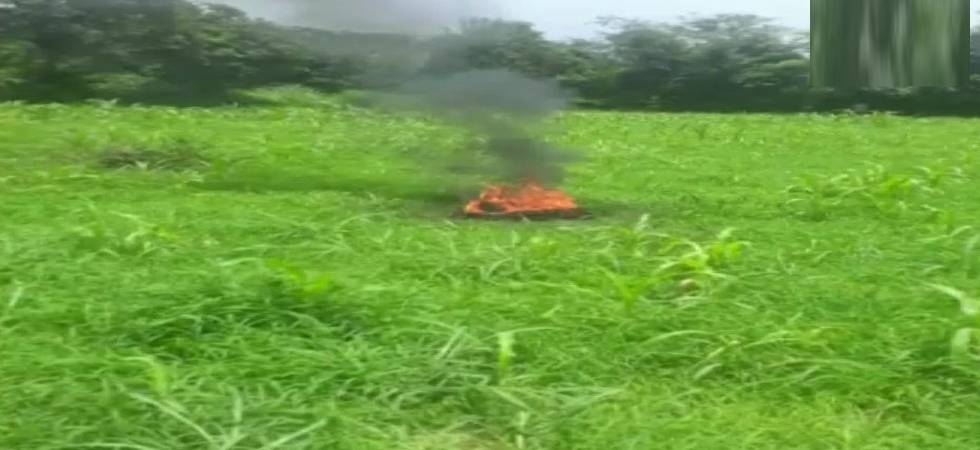 MiG-21 fighter jet crashes, pilot missing (Photo: ANI Twitter)