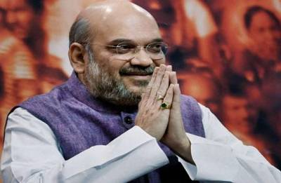 Amit Shah arrives in Jaipur to review poll preparations