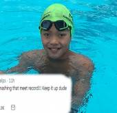 10-year-old 'Superman' swimmer breaks Michael Phelps' 100-metre butterfly record
