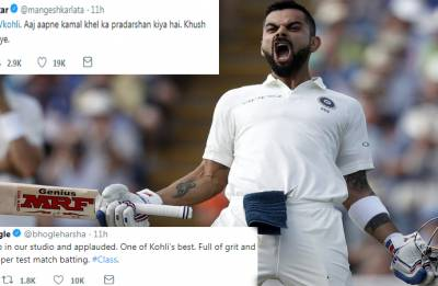 Twitterati bow down to King Kohli after he smashes 22nd Test ton in England