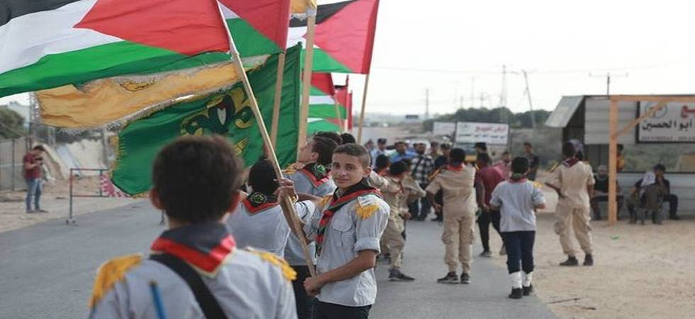 Cult of Martyrdom: School's out, it's protest time in Gaza (Photo: Twitter)