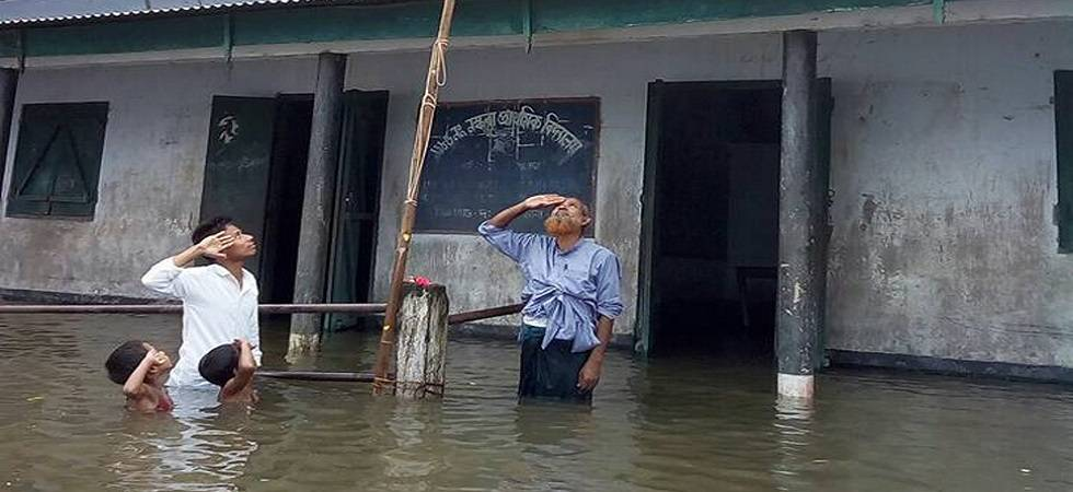 Assam: Boy who saluted Tricolour in chest-deep flood water not in NRC draft (File Photo)