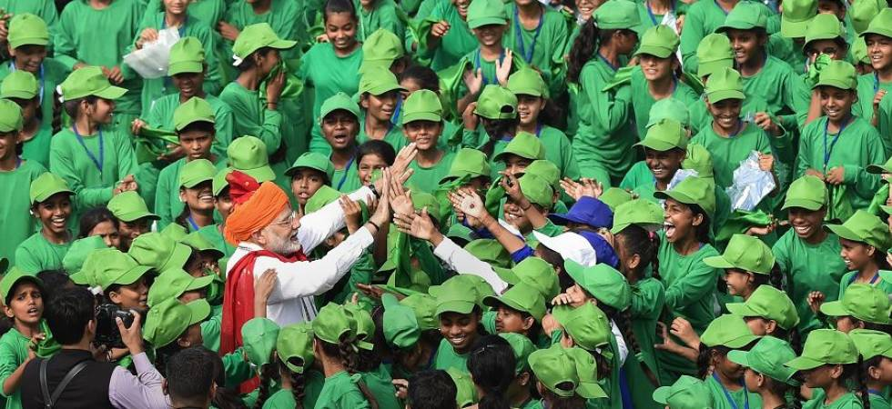 It's children's day out with PM Modi at Red Fort on Independence Day (Photo Source: PTI)