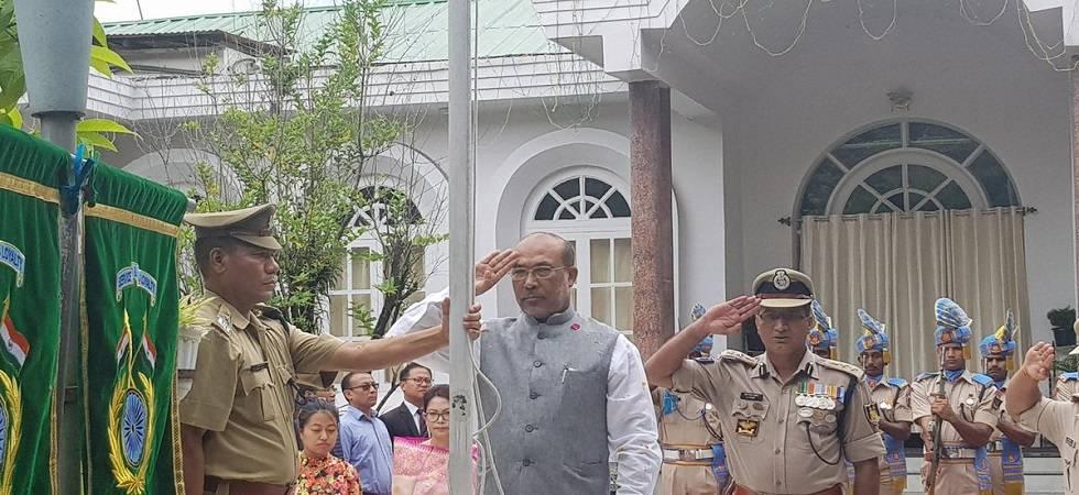 Independence Day in Manipur: Won't spare corrupt people, vows CM Biren Singh (Photo- Twitter/NBirenSingh)