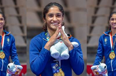 Asian Games 2018, Day 2: Vinesh Phogat wins gold in 50 kg freestyle wrestling