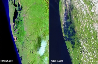 NASA releases before and after images of Kerala floods, shows the scale of destruction