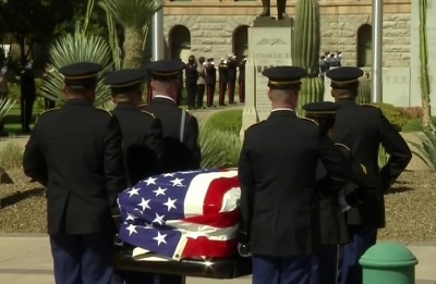 Final farewells to John McCain begin at Arizona Capitol
