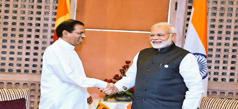 India ready to help Sri Lanka in any way: PM Modi to Sirisena (Photo- Twitter/@MEAIndia)