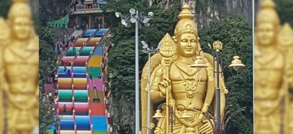 Famed Malaysian Hindu temple complex gets technicolour paint job (Photo- Facebook)