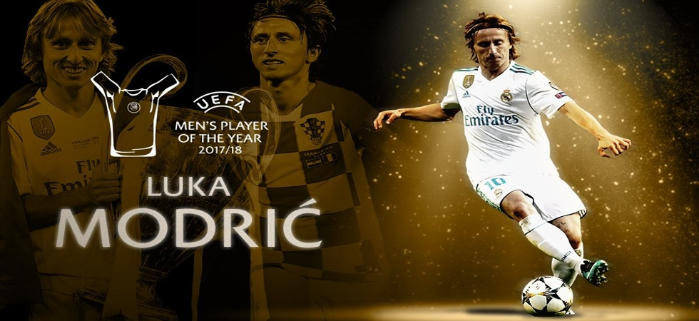 Luka Modric not Cristiano Ronaldo wins UEFA's Player of the Year (Photo: Twitter)