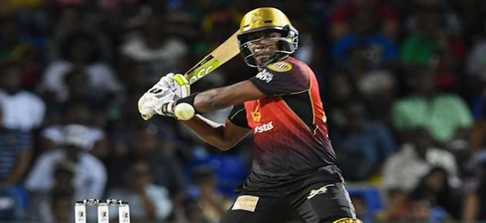Dwayne Bravo's hit five consecutive sixes off Alzarri Joseph's over (Photo: Twitter)