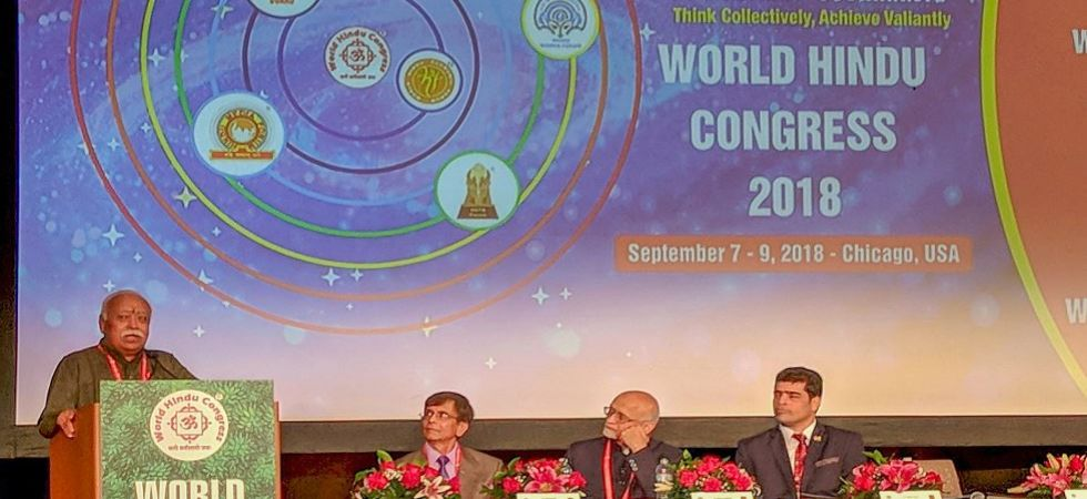 Mohan Bhagwat addresses World Hindu Congress in Chicago (Photo Source: PTI)