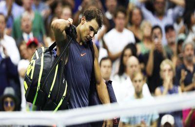 US Open: Rafael Nadal retires after 'knee issues' against Juan Martin del Potro