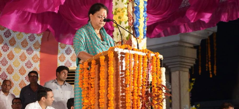 Vasundhara Raje's sop bonanza before elections slashes vat on petrol, diesel (Photo: Twitter/@VasundharaBJP)