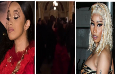 Nicki Minaj Cardi B end up in a scuffle, latter left with a bump on head