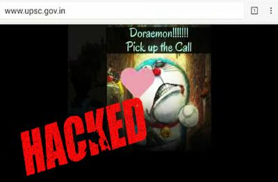 UPSC website hacked! Hackers play 'Doraemon' title song in background