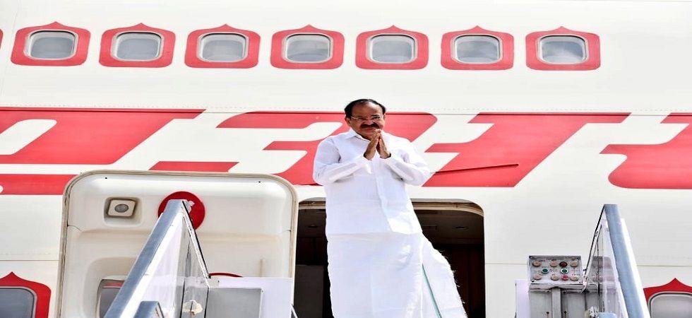 Vice President Venkaiah Naidu begins week-long tri-nation tour, here's his itineraries (Photo- Twitter/@VPSecretariat)