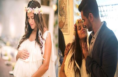 Video of Neha Dhupia's baby shower; Expectant parents, Neha and Angad look so drenched in love