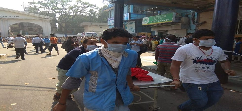 West Bengal: After fire - astonishment, commotion, despair at Calcutta Medical College (Photo- Twitter)