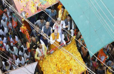 LIVE   Amit Shah in Madhya Pradesh: BJP chief starts roadshow in Guna