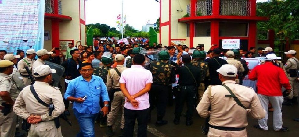 Manipur University students clash with police inside campus