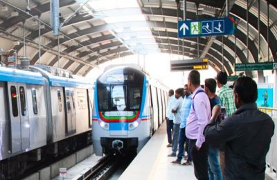 Metro rail service in Hyderabad hit