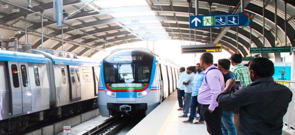 Metro rail service in Hyderabad hit (Photo- Twitter)