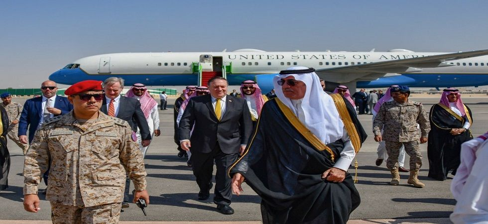 Pompeo holds talks with Saudi king on missing Washington Post journalist (Photo- Twitter/@statedeptspox)