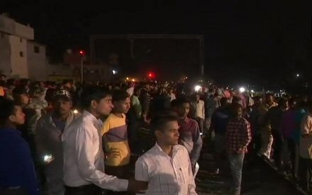 Dussehra celebration turns into nightmare as train speeds over revellers; toll rises to 60