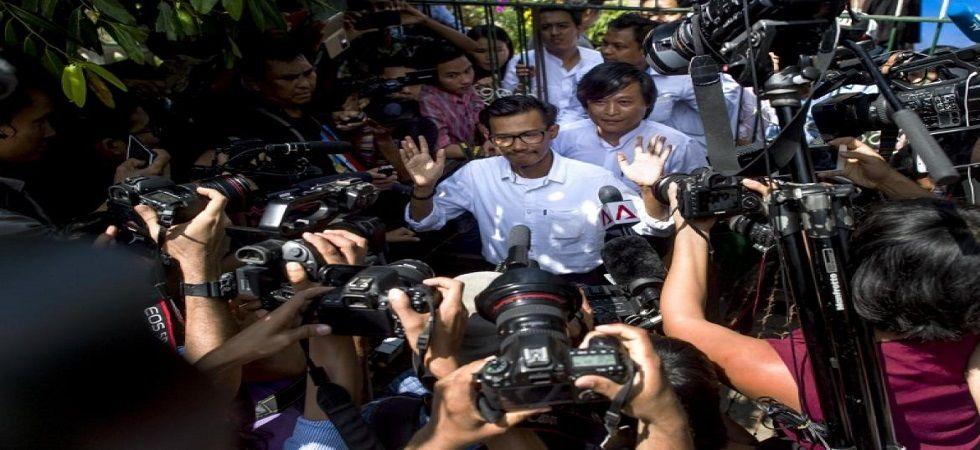 Myanmar journalists facing incitement charges get bail (Photo- Twitter)