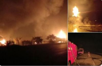 Mathura: Gas tanker explodes on Yamuna Expressway, three critically injured