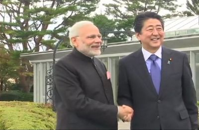 India-Japan 13th annual summit: PM Modi meets Shinzo Abe in Yamanashi