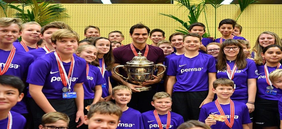 Roger Federer secured his 99th career title with victory in the Swiss Indoor tournament. (Image credit: Roger Federer Twitter)