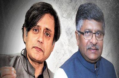 Shashi Tharoor sends legal notice to Ravi Shankar Prasad for calling him 'murder accused' - Read complete notice