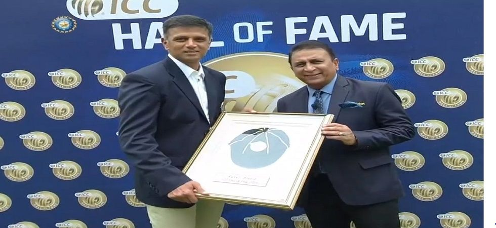 Rahul Dravid officially inducted into ICC Hall of Fame (Photo: BCCI)