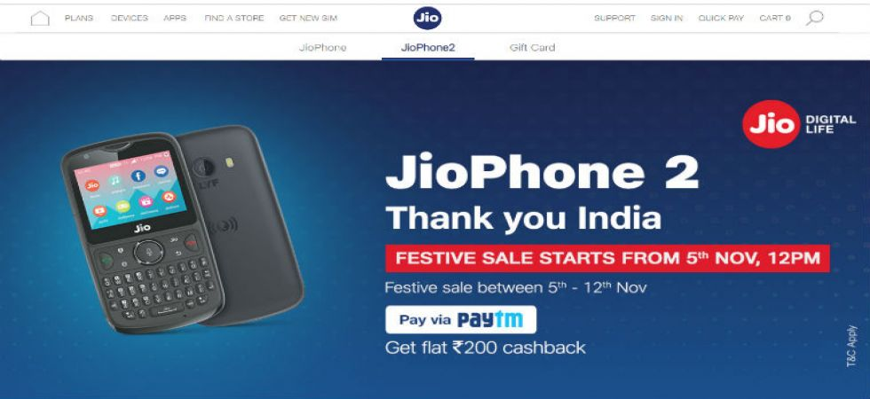 Diwali 2018: Jio Phone 2 festive open sale starts today (Photo Source: Jio.com)