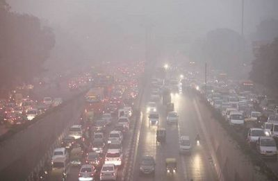 Delhi Pollution: NDMC sprinkles water on roads as air quality falls to severe