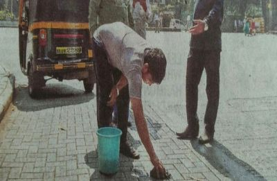 Be prepared to clean up the mess if caught spitting on Pune streets