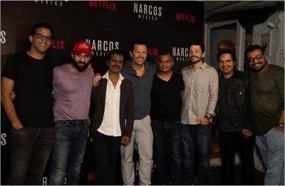 Narcos: Mexico' stars Micheal Pena, Diego Luna meet 'Sacred Games' team