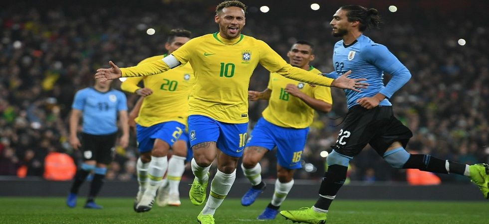 Neymar's penalty gave Brazil a 1-0 win in an international football friendly against as they extend their unbeaten run against their South American neighbours to 10 games. (Image credit: Twitter)