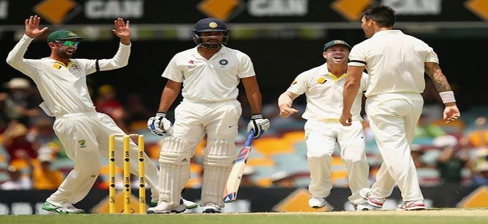 Rohit Sharma's sledge to Mitchell Johnson in the Gabba Test in 2014 proved to be costly as India squandered the advantage to lose by four wickets. (Image credit: Twitter)