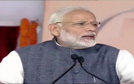 Prime Minister Narendra Modi inaugurates Western Peripheral Expressway, flags off Metro's Escorts Mujesar-Ballabgarh section