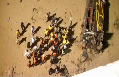Cuttack: 12 killed, 49 injured after bus falls off Mahanadi bridge