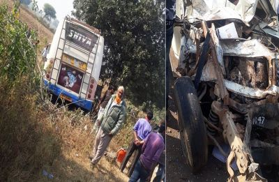 Madhya Pradesh: 7 children, driver killed as bus collides with school van in Satna